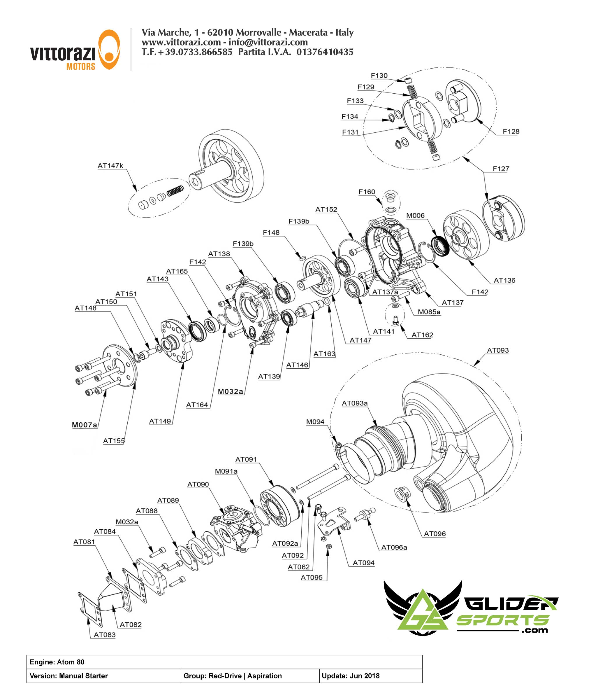 AT090 - Carburetor Walbro for Atom80 | Vittorazi Atom 80